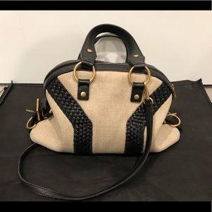 Yves Saint Laurent Braided Leather Bag